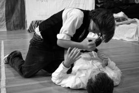 A fight scene in a Drama class.