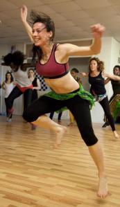 Jenny Rintoul teaches a community dance class.