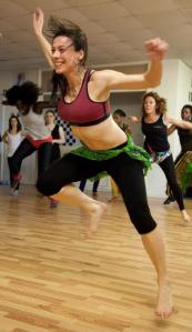 Jenny Rintoul teaches a community dance class.
