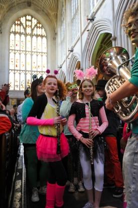 Playing in Bath Abbey as part of Bath Festival.
