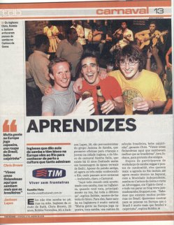 Director Jackson Lapes featured in a Brazilian newspaper.