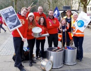 Samba Band at National Union of Teachers rally, Bristol