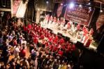 45 English Samba percussionists playing in Rio de Janeiro