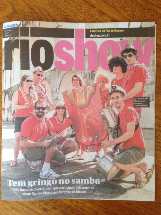 Carnaval Transatlantico hits the front page!