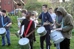United Beatz drummers rehearsing